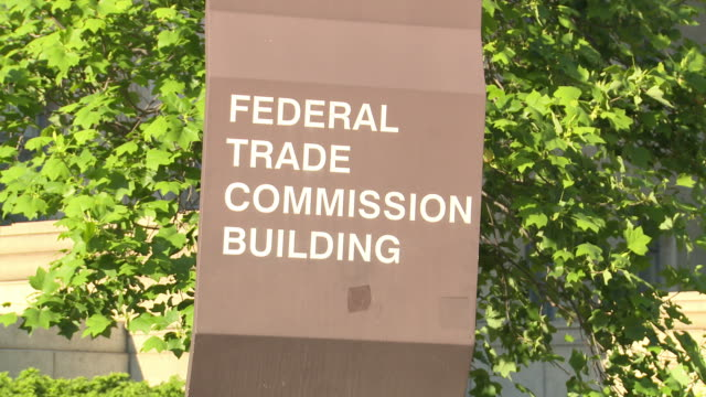 federal trade commission building in washington dc - federal building stock videos & royalty-free footage