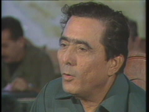 federation leader enrique bermudez says commanders do not have to be great generals to win the war against the nicaraguan government. - ニカラグア点の映像素材/bロール