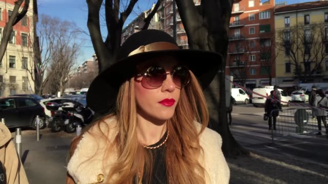 federica sciancarepore wearing borsalino hat missoni belt versace jewels zign bag and cavalli sunglasses with gregorio barbucci wearing vans shoes... - missoni stock videos & royalty-free footage