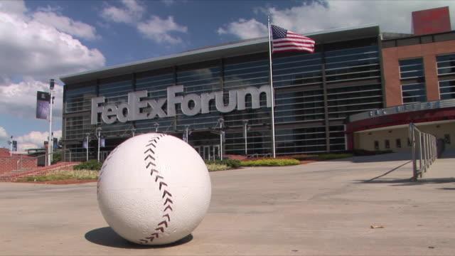 WS FedEx Forum With Baseball On Sidewalk Memphis Tennessee USA