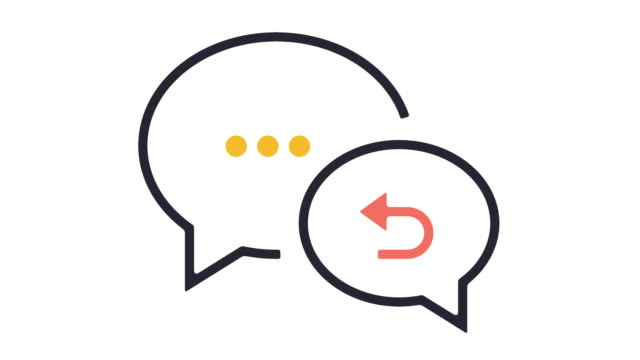 feedback icon animation - speech bubble stock videos & royalty-free footage