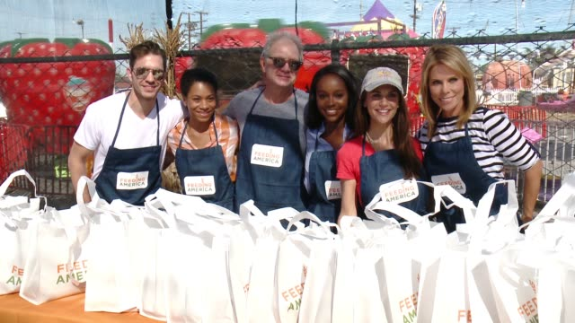 CHYRON Feeding America And The Los Angeles Regional Food Bank Host Holiday Harvest Volunteer Event at Shawn's Pumpkin Patch on October 24 2015 in...