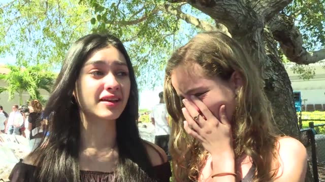 I feel so guilty and lucky at the same time Students attending a mass at a local church react to the shooting that left 17 people dead at their high...