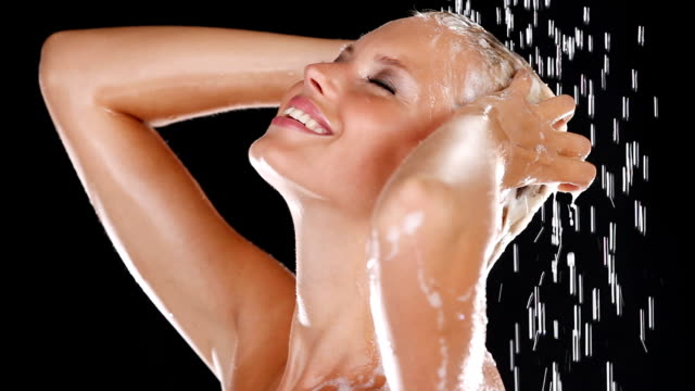 feeling fresh and sensual - shampoo stock videos & royalty-free footage