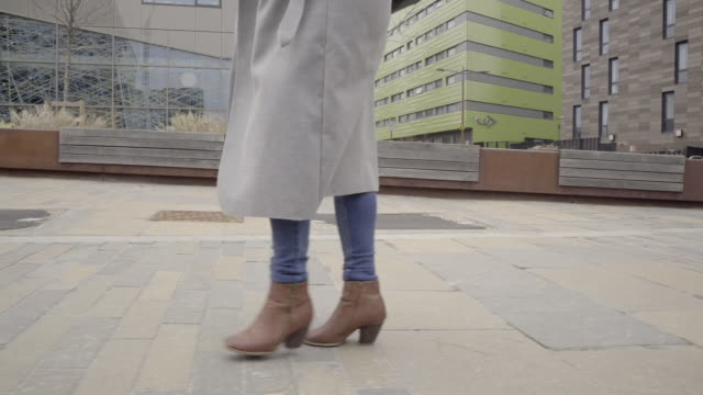 feet foot shot of boots of smart casual attractive business woman - boot stock videos & royalty-free footage