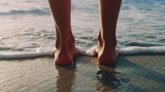 feet in water - image stock videos & royalty-free footage
