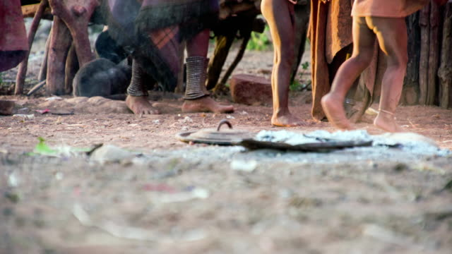 la feet of himba tribe - barefoot stock videos & royalty-free footage