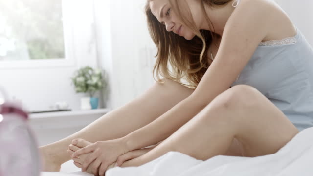 feet pain - massage stock videos & royalty-free footage