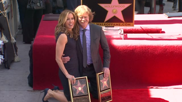 felicity huffman and william h macy at felicity huffman and william h macy honored with star on the hollywood walk of fame - walk of fame stock videos & royalty-free footage
