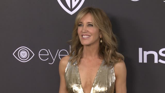 felicity huffman at 18th annual instyle and warner bros pictures golden globes afterparty at the beverly hilton hotel on january 08 2017 in beverly... - jumpsuit stock videos & royalty-free footage