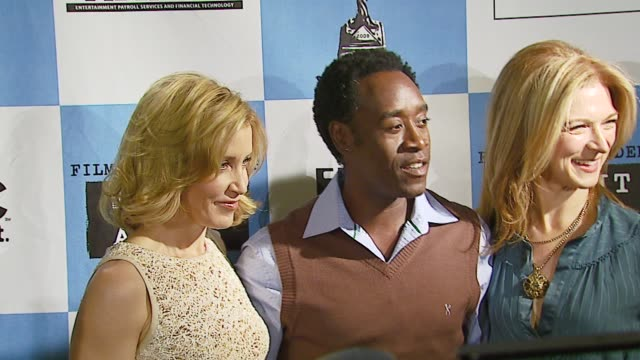 felicity huffman don cheadle and film independent's executive director dawn hudson at the 2007 film independent's spirit awards nominations press... - executive director stock videos & royalty-free footage