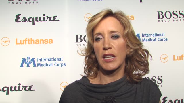Felicity Huffman on her involvement in tonight's event on International Medical Corps on why the Esquire House is a good place to have a benefit for...
