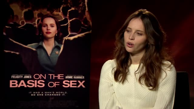 felicity jones and armie hammer talk about representing ruth bader ginsburg and her struggle for equal rights in on the basis of sex - armie hammer stock videos & royalty-free footage