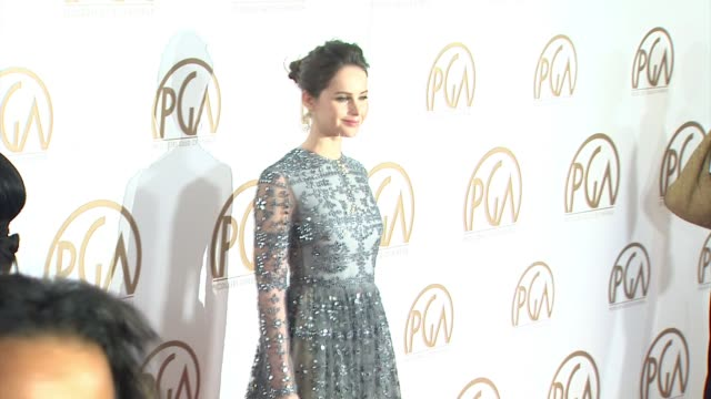 vidéos et rushes de felicity jones at 26th annual producers guild awards in los angeles, ca 1/24/15 - producer's guild of america awards