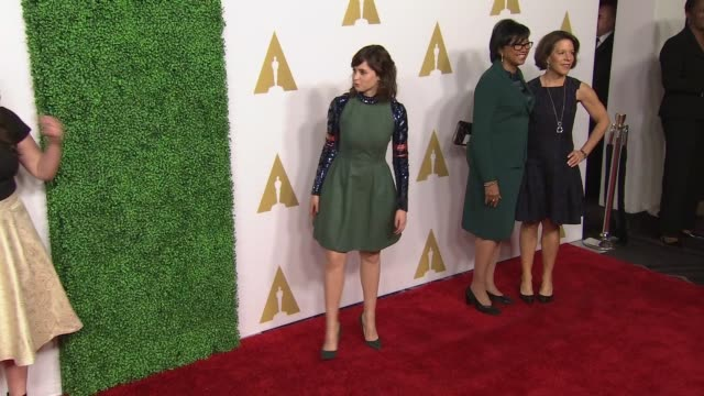 felicity jones at 87th annual academy awards nominee luncheon - reception at the beverly hilton hotel on february 02, 2015 in beverly hills,... - the beverly hilton hotel stock videos & royalty-free footage