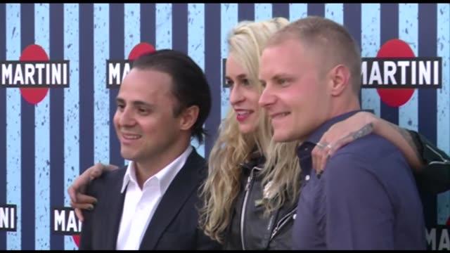 Felipe Massa Alice Dellal and Valtteri Bottas attend a Martini Formula 1 Terrace