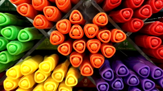 felt-tip pens of various color for sale - stationary stock videos & royalty-free footage