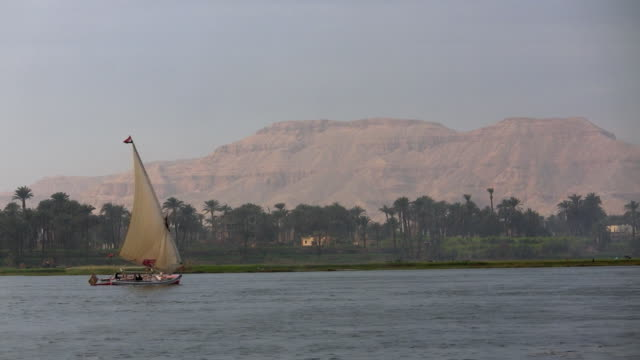 WS, Felucca boat on Nile River, Cairo, Egypt