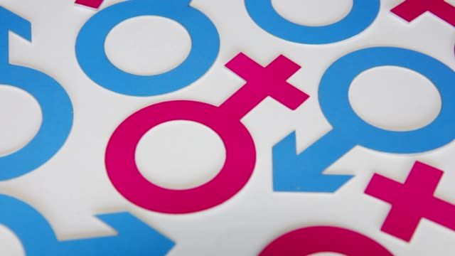 female and male icons - gender symbol stock videos & royalty-free footage