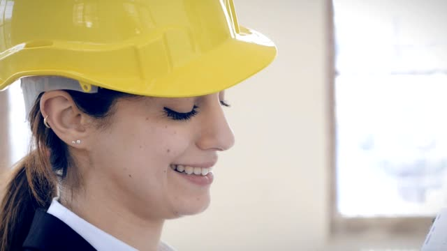 Female Architect  on building site