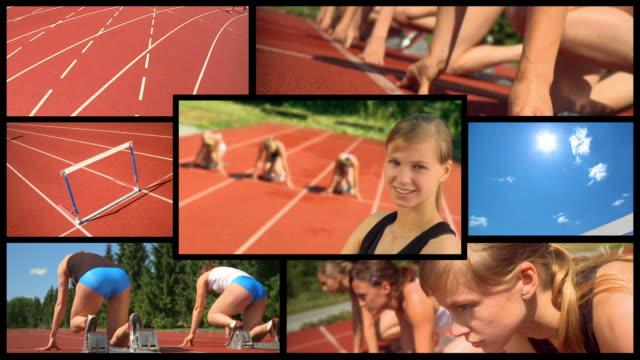 HD-MONTAGE: Weibliche Athleten