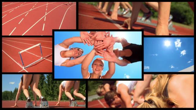 HD-MONTAGE: Weibliche Athletics