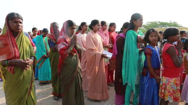 female audience of a religious ceremony on Palm Sunday near Pannur, India