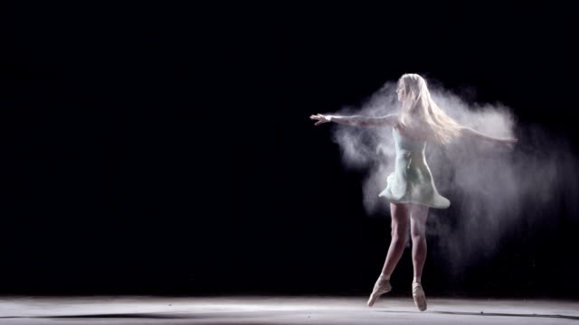 female ballet dancer in a pirouette - pirouette stock videos and b-roll footage