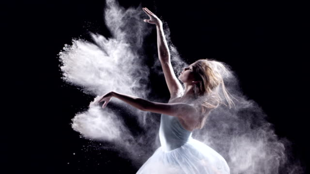 female ballet dancer jumping - tipo di danza video stock e b–roll