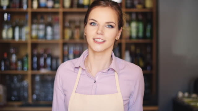 female barista/ rzeszow/ poland - geben stock-videos und b-roll-filmmaterial