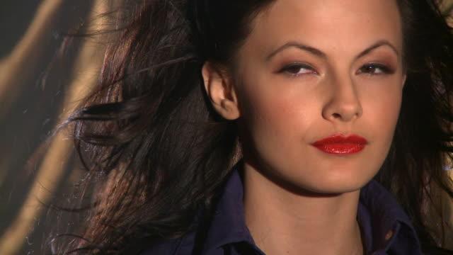 hd: female beauty - rynka ihop ansiktet bildbanksvideor och videomaterial från bakom kulisserna