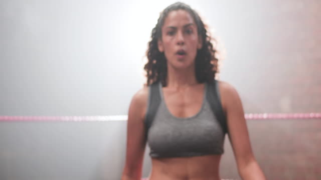 female boxer punching to camera - boxing stock videos & royalty-free footage
