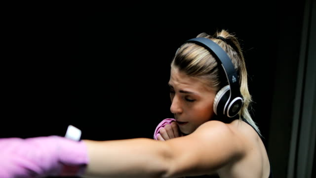 female boxer - combat sport stock videos and b-roll footage