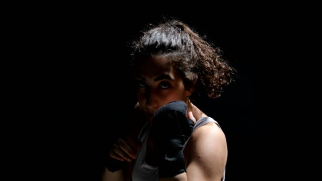 female boxer - potere femminile video stock e b–roll