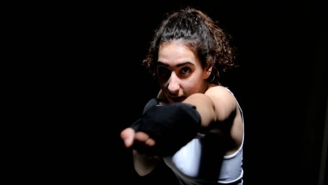 female boxer - kickboxing stock videos & royalty-free footage