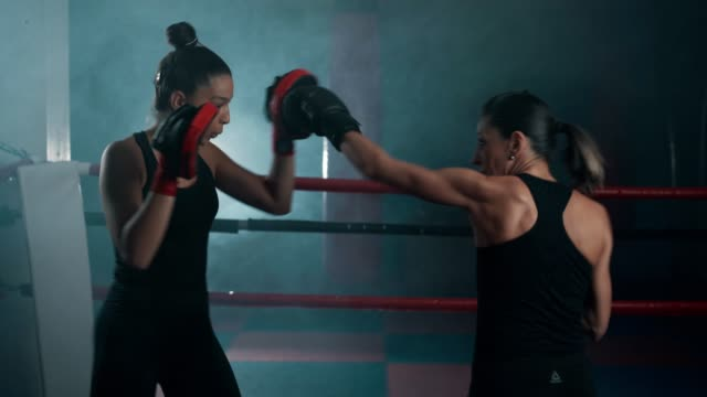 female boxing workout - boxing ring stock videos & royalty-free footage