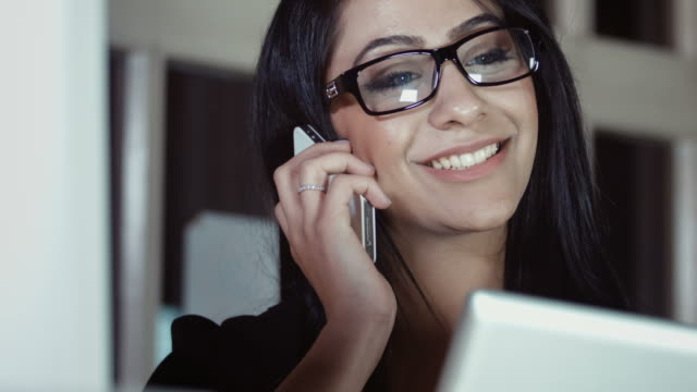 Female business woman on phone