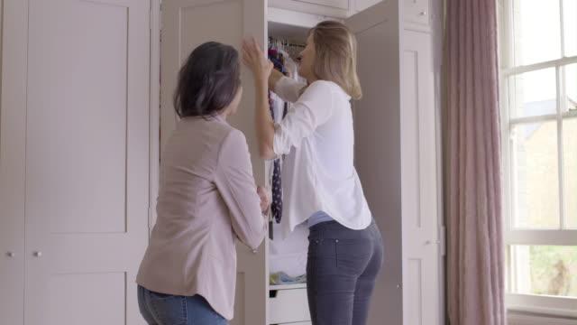 Female choosing clothes