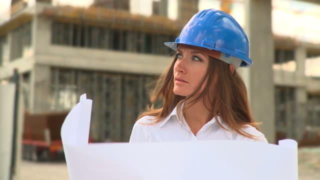 hd :雌シヴィルエンジニア - 土木技師点の映像素材/bロール