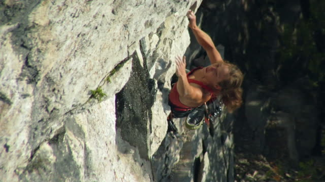 t/l ws ha female climber climbing rock, lion's head, ontario, canada - free climbing stock videos & royalty-free footage