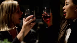 Female Colleagues Drinking After Work