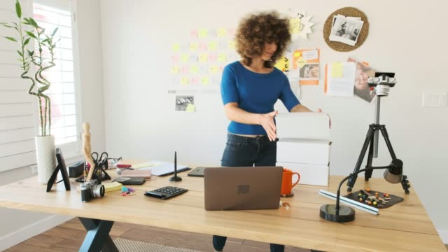 female creative team working remotely - e commerce stock videos & royalty-free footage