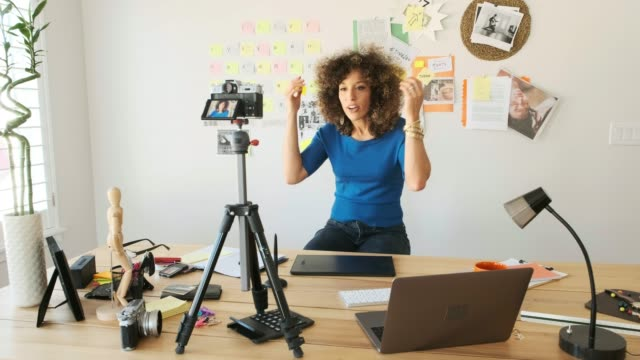 female creative team working remotely - expertise stock videos & royalty-free footage