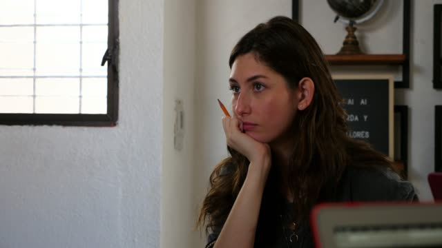 ms female designer listening to client during project meeting in office - long hair stock videos & royalty-free footage