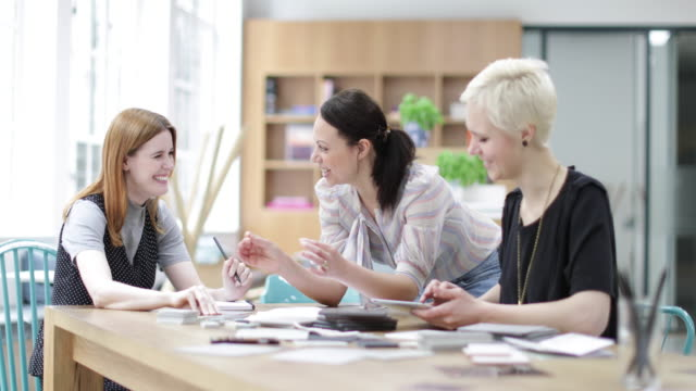 Female designers successfully working together
