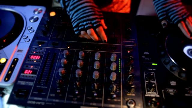 hd: female dj turntable - deck stock videos & royalty-free footage
