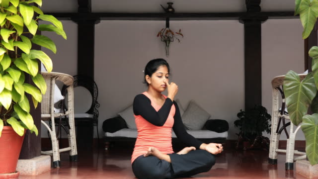Female Doing Pranayama