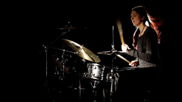 female drummer - schlagzeugerin - frau stock videos & royalty-free footage