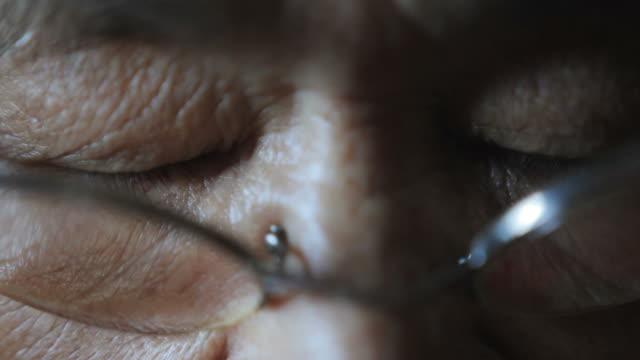 female elder eyes