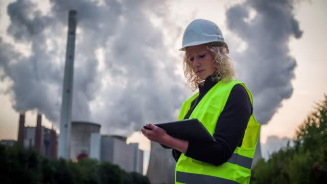 Female Engineer at Industrial Plant - Women in STEM
